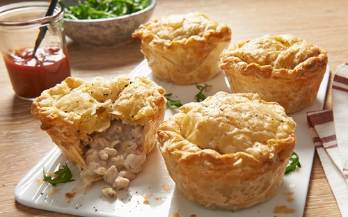 Individual Chicken Leek And Mushroom Pies